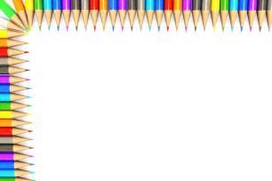 Colorful Pencil Border