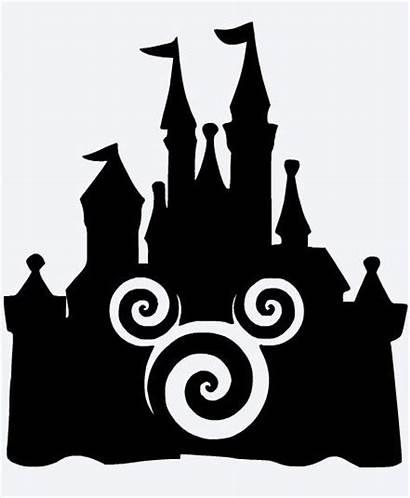 Silhouette Mickey Disney Castle Mouse Swirl Cameo