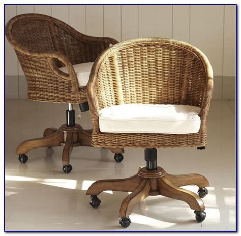 wicker swivel desk chair chairs home design ideas