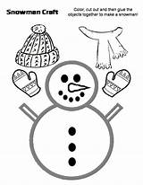 Worksheets Snowman Preschool Craft Crafts Template Hat Scarf Eslkidstuff sketch template