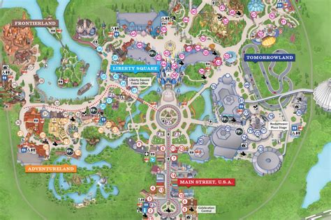 disney maps  maps  disney theme parks resort maps