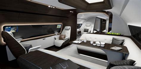 Interior Aircraft Design by Lufthansa Technik Unveils Mercedes Bizliner Cabin Designs