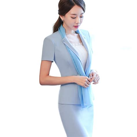 light blue suit womens aliexpress com buy fashion summer style scarf skirt suit