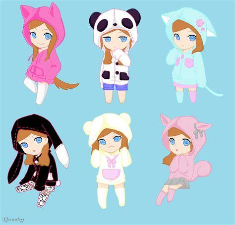 Chibi Animals Wallpaper - chibi animal hoodies an anime speedpaint drawing by