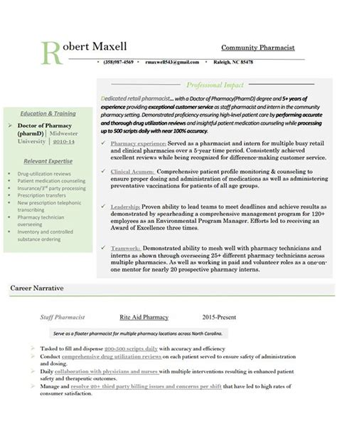 Pharmacist Resume Help by Resume Exles Outpatient Pharmacist Exle See