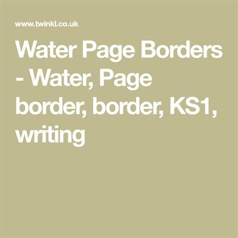 water page borders water page border border ks