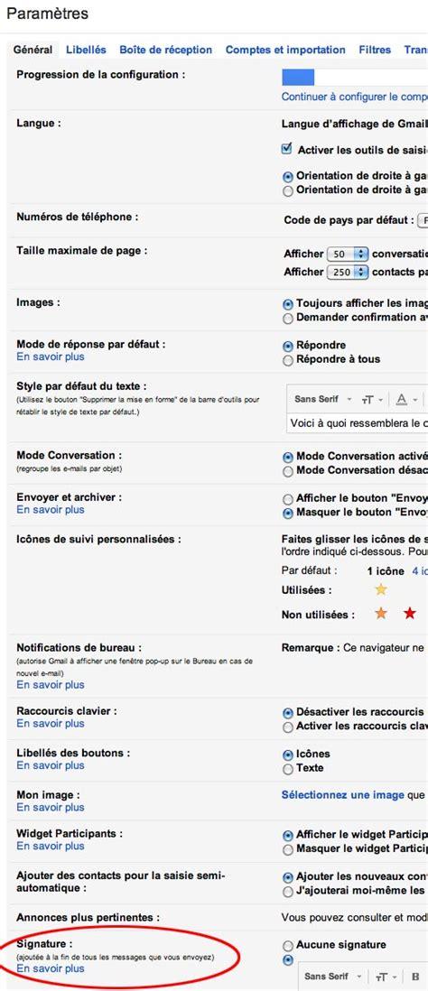 gmail bureau comment ajouter une signature à un mail gmail