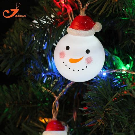 snowman string lights fairy led christmas light home