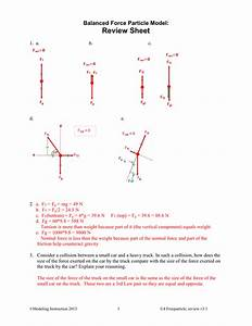 Answer Key Net Force Particle Model Worksheet 5