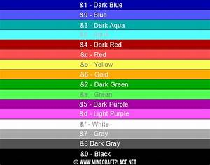 ᐅ Minecraft COLOR CODES for: Chat • Signs • MotD • and more!