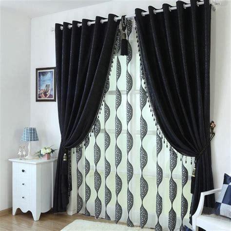 noir beaut 233 personnalis 233 blackout rideaux pour salon haute qualit 233 tissu moderne rideau pour