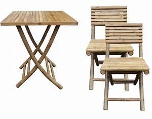 Balkon Tisch Stühle : bambus garten balkon m bel set tisch stuhl klappbar klapptisch klappstuhl holz ebay ~ Sanjose-hotels-ca.com Haus und Dekorationen