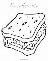 Coloring Pages Sandwich Cheese Worksheet Picnic Sheet Ham Food Noodle Foods Template Twistynoodle Twisty Go Printable Sandwiches Sheets Cook Dog sketch template