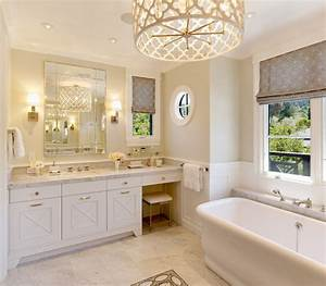 Quatrefoil chandelier transitional bathroom benjamin for What kind of paint to use on kitchen cabinets for art deco wall sconces lighting