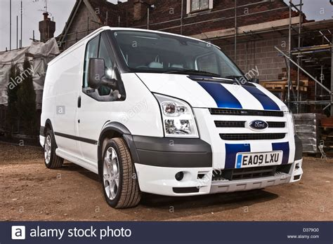 ford transit sport white ford transit sport and building exterior with