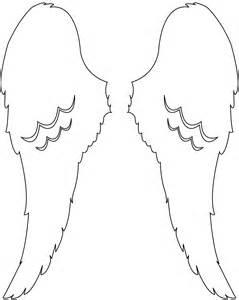Engelenvleugels Kleurplaat by Wings Design Silhouette Free Vector Silhouettes