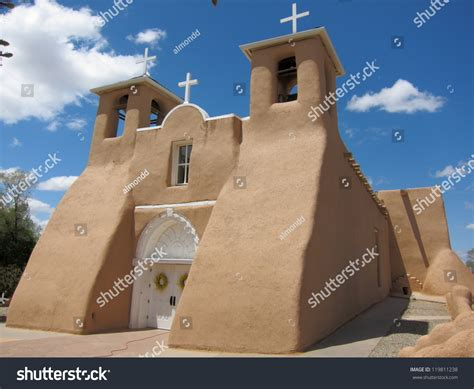 Ancient Adobe House In Taos Pueblo, New Mexico Stock Photo