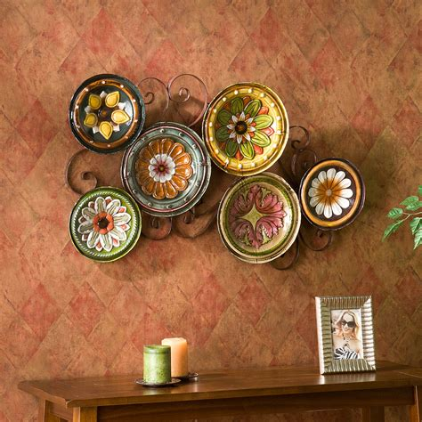 Tuscan Decorative Wall Plates by Tuscan Mexican Hacienda Colonial Style Decor Iron