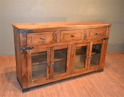 Wood Sideboard Buffet by Rustic Solid Wood Sideboard Buffet Console Table Media Tv