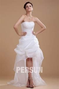 Robe Courte Mariée : robe de mari e bustier coeur courte devant longue derri re ~ Melissatoandfro.com Idées de Décoration