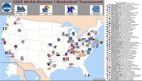 ncaa division  basketball tournament map
