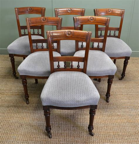 antique dining chair set of six walnut antique dining chairs 1267