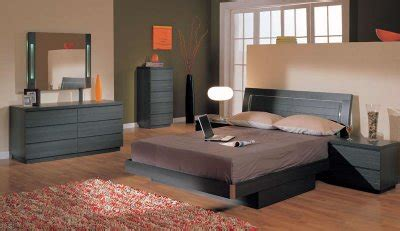 ash finish modern pc bedroom set wqueen size storage bed