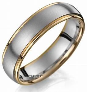 MENS 6MM 18K TWO TONE GOLD WEDDING BAND RING SIZE 4 13 EBay