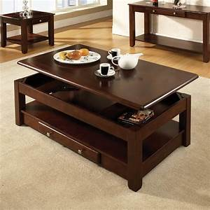 Steve silver nelson lift top coffee table in cherry nl300clc for Cherry wood lift top coffee table