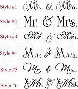 Vinyl Wall Quotes Bedroom Quotes & Love Quotes - Mr & Mrs