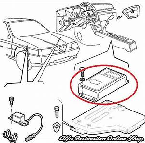 Alfa 164 Super  3 0 V6 24v Airbag Ecu  Alfa Restoration Online Shop