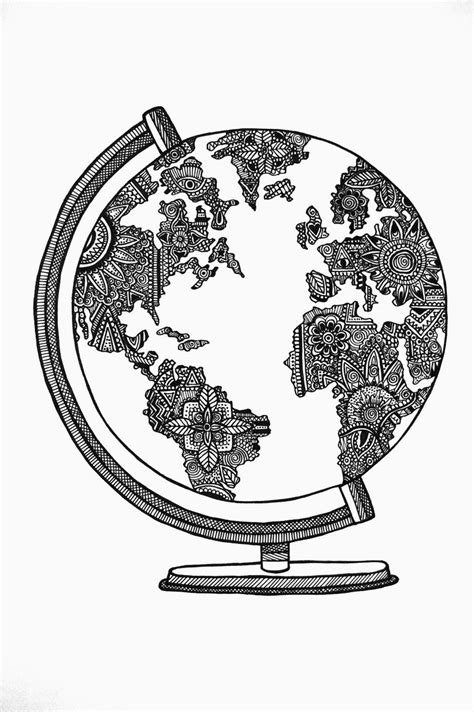 419 best images about Globes and maps illustrations on Pinterest | Watercolors, Earth day and