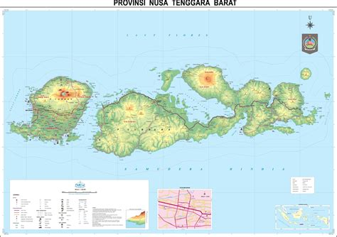 peta kota peta provinsi nusa tenggara barat