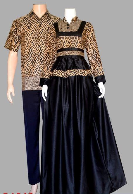 inspirasi model baju batik wanita kombinasi gamis