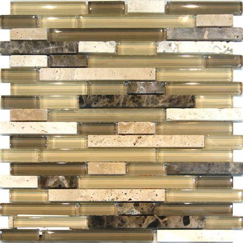 glass kitchen backsplash sle travertine emperador glass brown beige mosaic