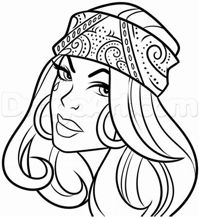 Chola Tattoo Drawing Step Drawings Coloring Mexican
