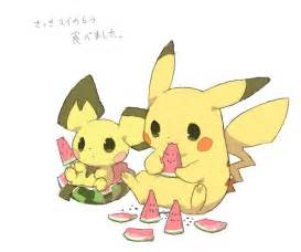 Pokemon Cute Pikachu and Pichu