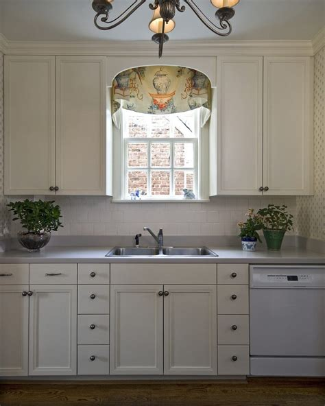 kitchen cabinet valance ideas terrific window valance ideas with white painted cabinets 5852