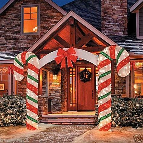 christmas driveways on pininterest outdoor lighted arch yard display decoration 7 foot