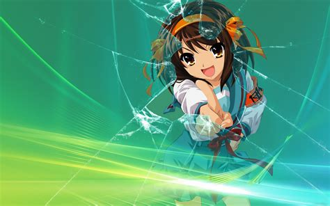 Anime Crack Id The Melancholy Of Haruhi Suzumiya Full Hd Wallpaper And