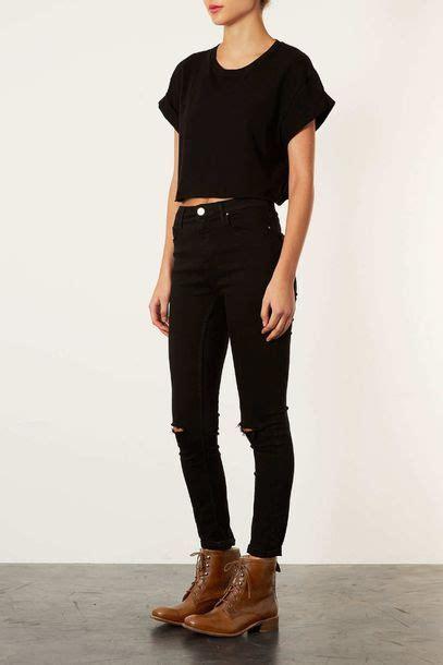 Jeans Black Tumblr Skinny Pretty Shirt