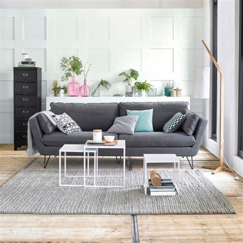 deco salon canape gris un canapé 4 possibilités joli place