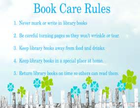 Library Book Care Rules