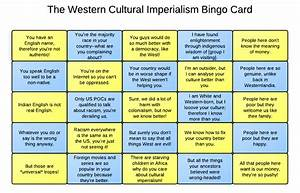 Cultural Imperialism Bingo – The World SF Blog