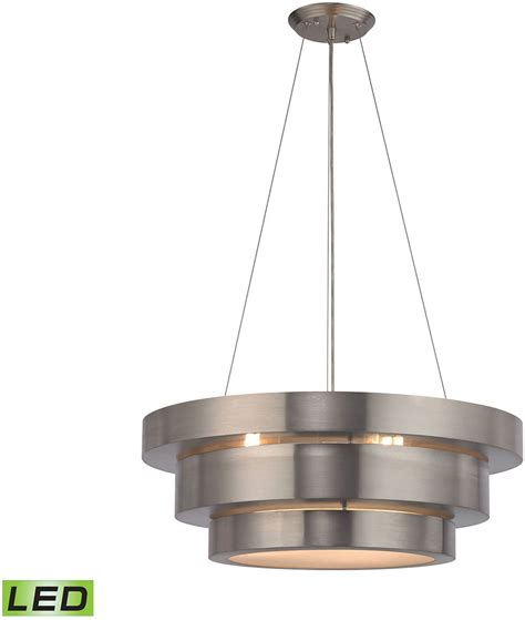 led drop ceiling lights elk 32225 3 led layers modern brushed stainless led drop