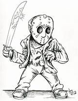 Jason Coloring Pages Voorhees Drawing Friday Deviantart Vorhees 13th Horror Drawings Mask Scary Cartoon Colouring Halloween Adult Sheets Tattoo Printable sketch template