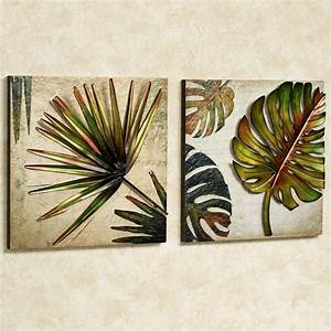 tropical impressions dimensional wall art set With tropical wall decor
