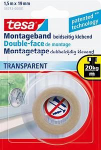 Tesa Bilder Aufhängen : tesa 55743 tesa powerbond transparent 1 5 m x 19 mm at reichelt elektronik ~ Orissabook.com Haus und Dekorationen