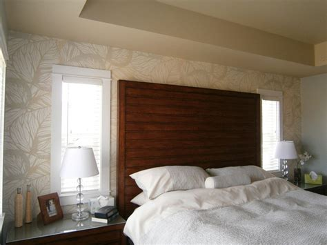 master bedroom feature wall tropical bedroom