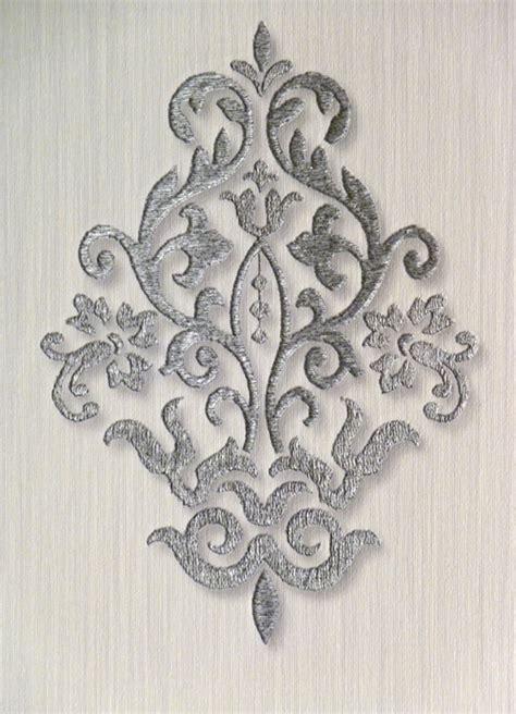 ornamenta papier peint baroque argent gris clair 95309